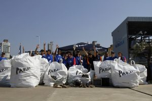 Rotas Comunicação - Meio Ambiente – Ação voluntária retirou quase 800 kg de lixo da foz do Rio Itajaí-Açú