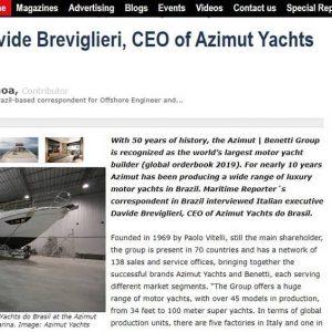 Rotas Comunicação - Revista Maritime Reporter & Engineering News dos EUA