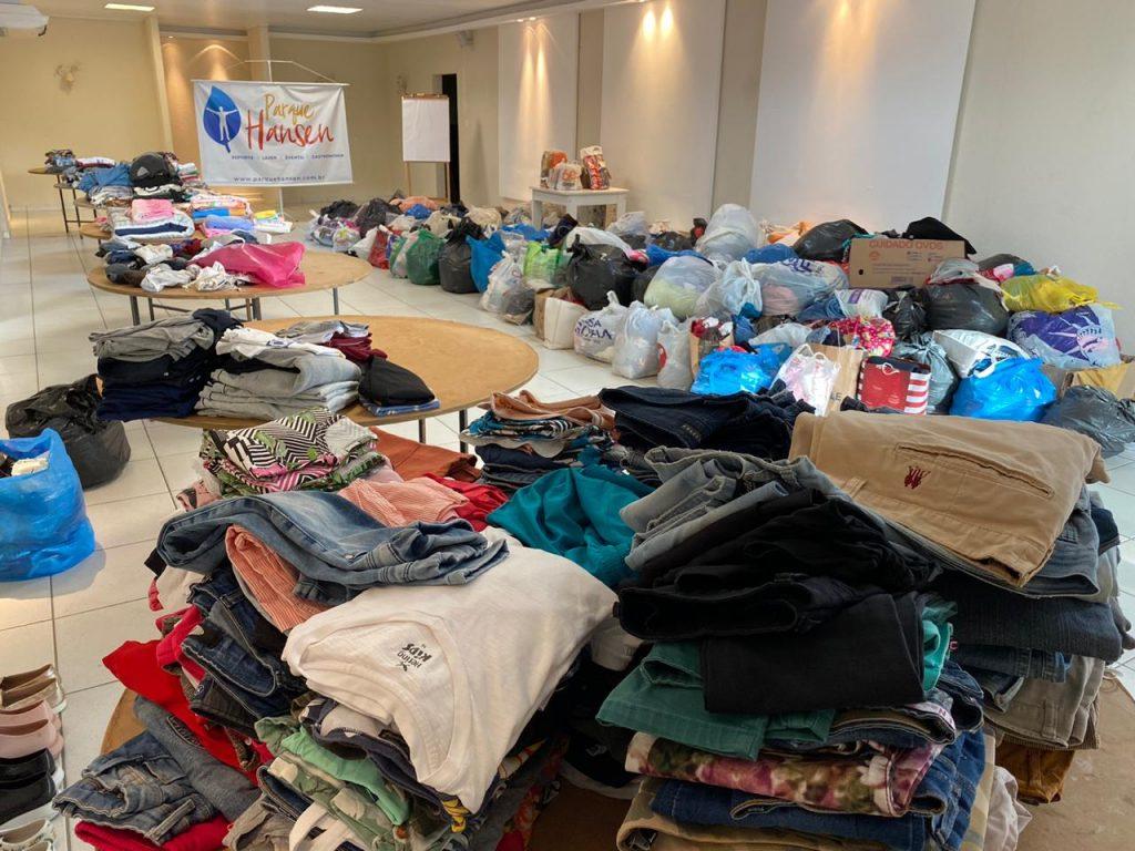 Rotas Comunicação - SOLIDARIEDADE – Hospital Infantil de Joinville recebe 10 toneladas de doações de agasalhos e cestas básicas